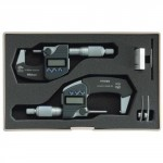 Set of 2 IP65 0/50 mm Digimatic Micrometer with data output